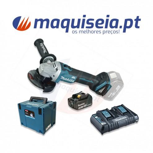 Makita Kit rebarbadora 18V DGA454 + 4x baterias
