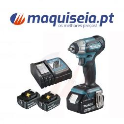 "Makita Chave de impacto 18V LXT 180 Nm 5.0 Ah 2 bat. 1/2"" DTW181RTE"