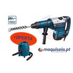 Martelo perfurador Bosch SDS-MAX GBH 8-45 DV Professional + Aspirador Gas 20 L SFC