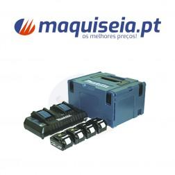 Makita Kit Baterias 4 x 5,0 Ah + DC18RD