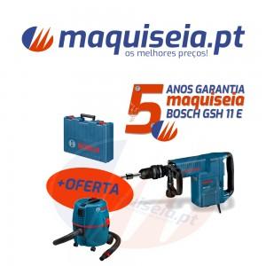 Martelo de percussão Bosch GSH 11 E Professional + Aspirador Gas 20 L SFC