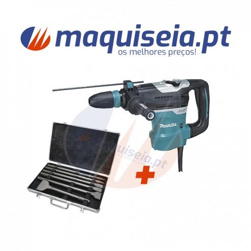 Makita Martelo Combinado HR4013C com inserção SDS-MAX + Kit de percussão