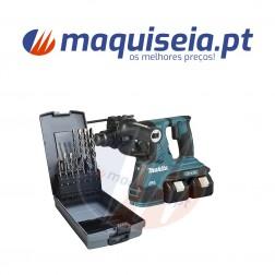 Makita AWS MARTELO LIGEIRO DHR282PT2J + Kit de brocas V-PLUS