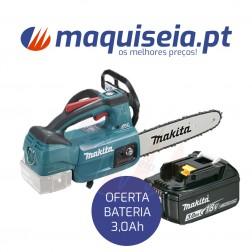 Makita Motosserra 18V DUC254Z + Bateria 3,0Ah